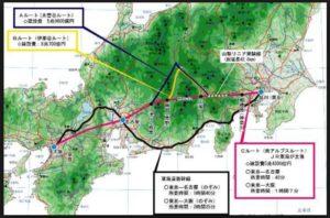 リニア中央新幹線ルート予定