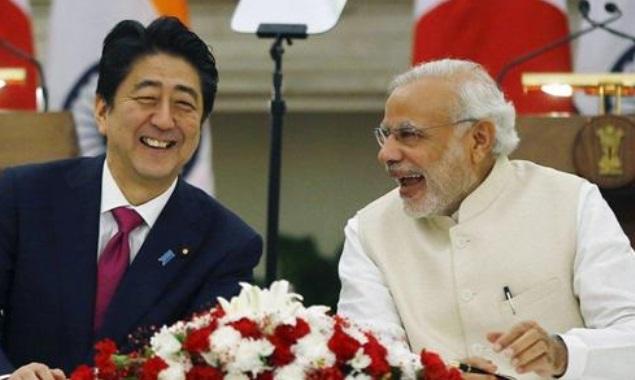安倍首相とモディ首相