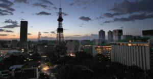 停電した札幌市内