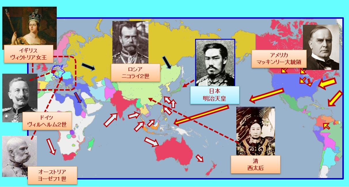日清戦争時の世界の指導者・君主