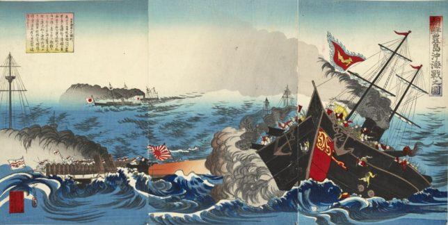 豊島沖海戦の浮世絵(当時)
