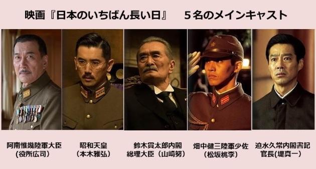 「日本のいちばん長い日」メインキャスト