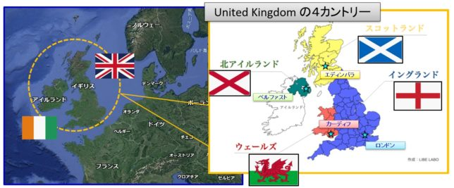 The United Kingdom 4カントリー(Contries of the UK)