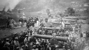 連合国に世襲された砲台