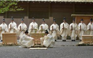 伊勢神宮での新嘗祭(にいなめさい)