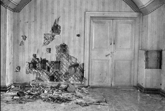 ロマノフ家が殺された地下室(Wikipediaより)