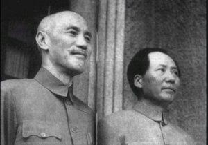 蒋介石(左)と毛沢東(右)