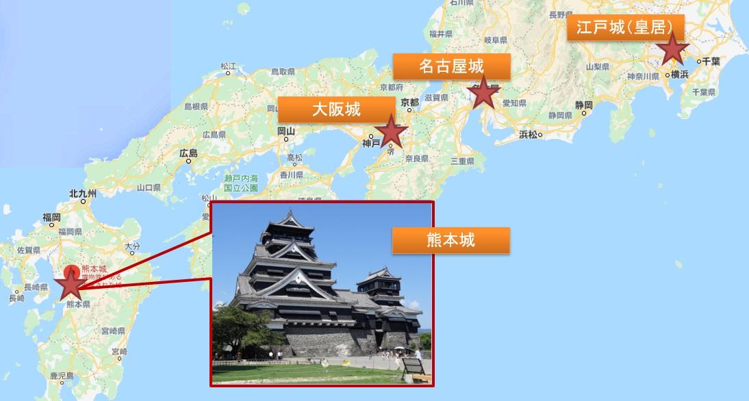 日本3名城と熊本城