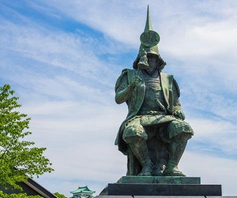 名古屋城の加藤清正像