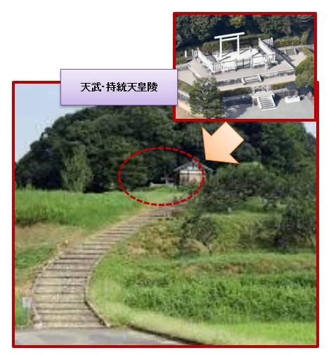 天武・持統天皇陵(野口王墓:奈良県明日香村)