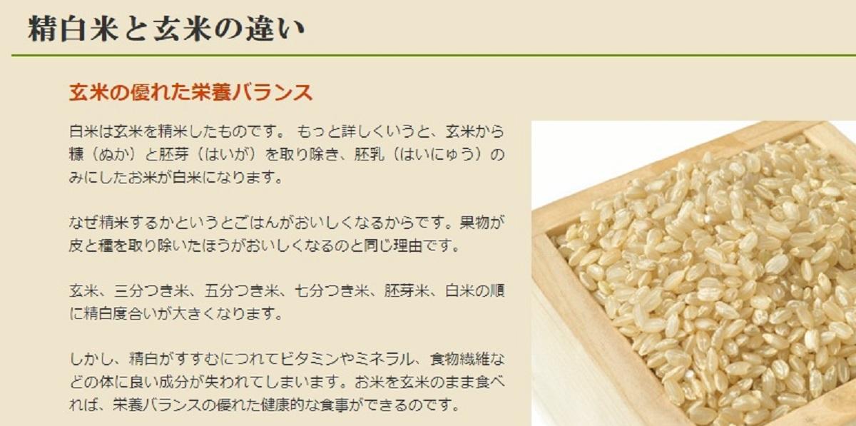 「精米」と「玄米」(「ササニシキ.com」HPより)