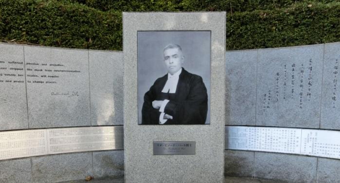 靖国神社のパール博士の石碑